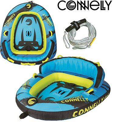 CONNELLY Viper 2 Towable Tube for 2 persons Package with leash