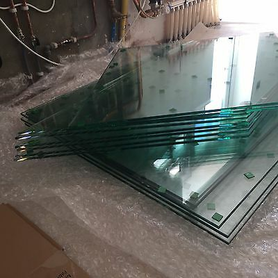 Toughened Glass 10mm panels Cut to Size Frosted or Clear 1000mmX1000mm
