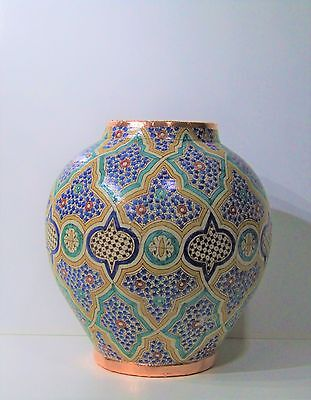 Extra Large Moroccan Ceramic vase , pot, Hand painted