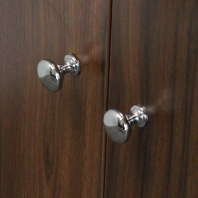Small Round Cabinet Knobs Drawer Kitchen Cupboard Pull Handles Polished Chrome