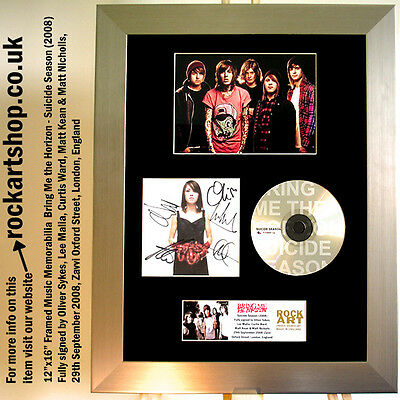 BRING ME THE HORIZON Suicide Season FULLY SIGNED CD Autographed Framed *WORLD