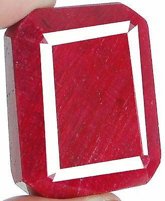 344 Cts Igli Certified Natural Pigeon Blood Red Ruby Authentic Huge Gemstone