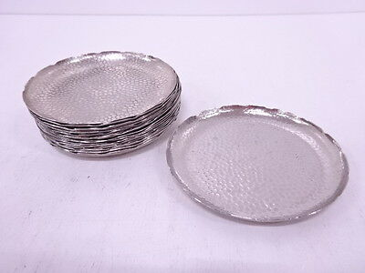 3041415: Japanese Metalwork / Small Plate / Set Of 17 / Silver Plate