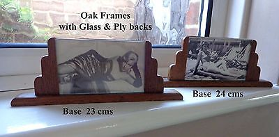 Pair Of Small Art Deco Wooden Photo Frames