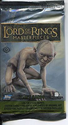 Lord Of The Rings Masterpieces Series 1 Factory Sealed Hobby Packet / Pack