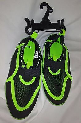 11-12 Black unisex youth swim shoes, beach shoes, pool shoes, water shoes, NWT