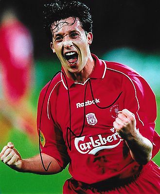 """Robbie Fowler (Liverpool FC) hand signed 8""""x10"""" photo + proof of signing & COA"""