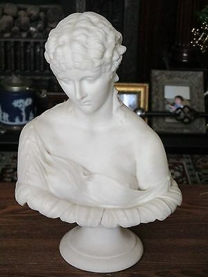 Large Victorian Parian Bust of Clytie (possibly by Copeland)