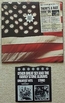 Sly & The Family Stone - There's A Riot Goin' On Lp  1971 Uk Epic + Insert & Ep