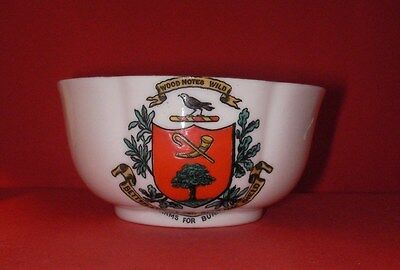 Goss Crested China Sugar Basin  ARMS FOR BURNS Crest