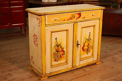 Sideboard 2 doors in lacquered wood furniture antique style vintage antiques 900