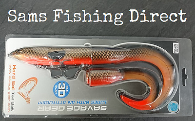 Savage Gear Hard Eel Tail Bait 25cm Red Copper Pike Fishing Lure
