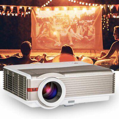 EUG HD 5000lms LED Home Theater 1080p Projector Movie Night Party 8000:1 HDMI*2