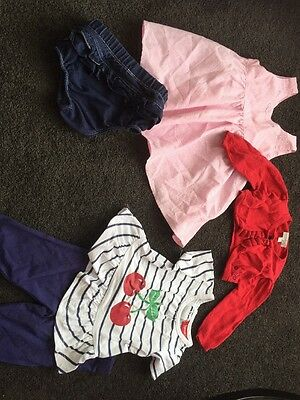 Baby Girls Outfit Set Cardigan Dress Top Pants Nappy Cover 00