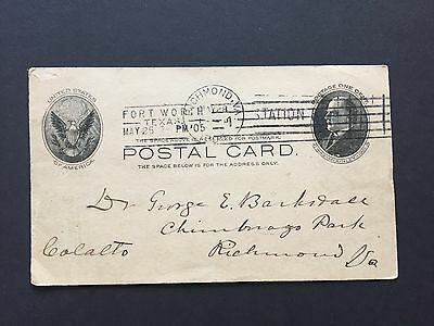 1905 US Postal Card from Fort Worth