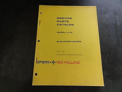 New Holland Sperry L-778 Skid Steer Loader Service Parts Catalog Manual   8-80