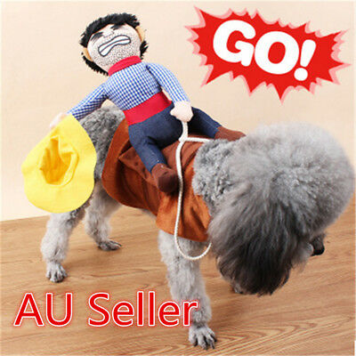 S-XL Pet Cat Dog western cowboy rider Clothes Clothing Cosplay Costume Party ON
