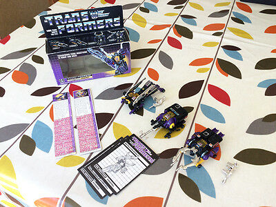 INSECTICONS x3, G1 TRANSFORMERS, 1984, BOXED complete