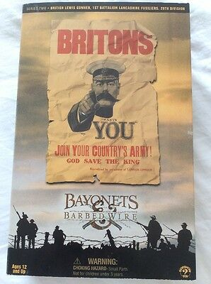 Dragon Bayonets And Barbed Wire Ww1 British Lewis Gunner Lancs Fusiliers 1/6
