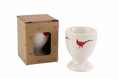 2x Fauna White and Red Pheasant Egg Cups