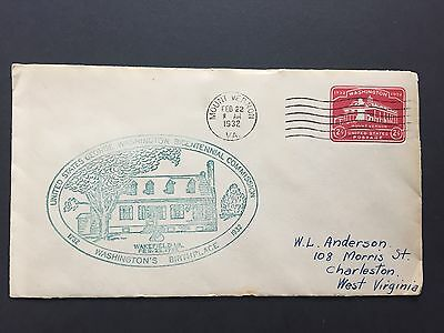 1932 US Cover with George Washington Bicentennial Commision stamp