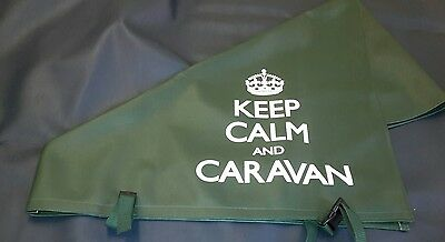 New Green Keep Calm and Caravan Hitch Cover