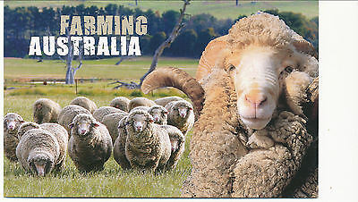 Australian Stamps: 2012 Farming Pack - Beef Cattle, Oranges, Sugar and Wool
