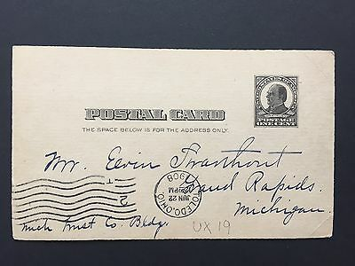 1908 US Postal Card from Toledo to Michigan