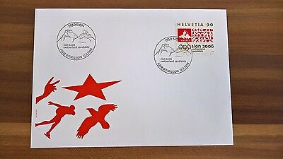 Schweiz, FDC Switzerland Sion Candidate 2006 for Olympic Winter Games