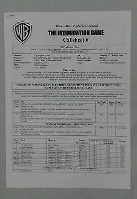 Batman Begins - Christian Bale - Call Sheet Prop - w/COA