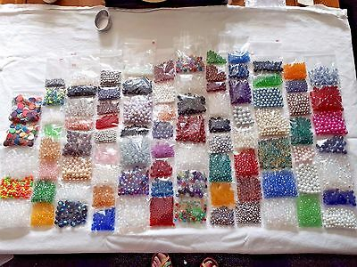 Massive Job Lot Glass And Crystal Jewellery Making Beads  Lot A Free Post