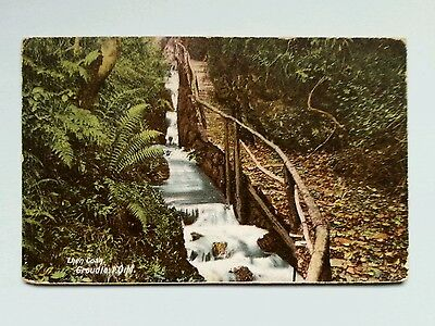 1904 Lhen Coan Groudle Glen Isle Of Man Colour Printed Postcard Manx I.o.m.