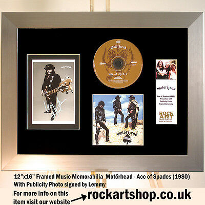 MOTORHEAD Ace of Spades PUBLICITY PHOTO *SIGNED BY LEMMY 2011* Autograph *WORLD