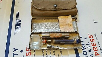 Antique Vintage Surgical Eli Lilly's Ever-Aseptic Iletin Syringe Case