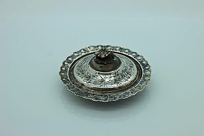 Antique Original Perfect Silver Islamic Anatolian For Baby Plate