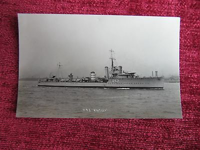 WW2 RP Postcard HMS Whitley Navy Military Collectable am8