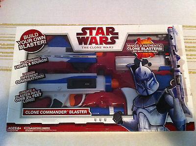 Star Wars  Electronic Lights/ Sounds Clone Trooper Blaster Rifle-Hasbro 2009