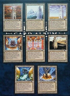 "12x Land Cartes Magic Mtg "" Urza Mine Tower Power Plant"" VO Antiquities URZATRON"
