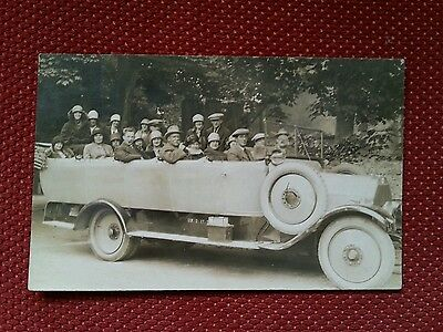 RP early vintage Arthur Hadley Charabanc tour party Ramsey Isle of Man IOM Manx