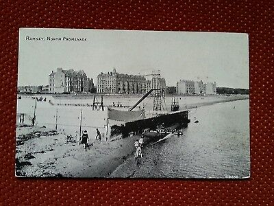 Early vintage Open Air Swimming Pool North Promenade Ramsey Isle of Man IOM Manx