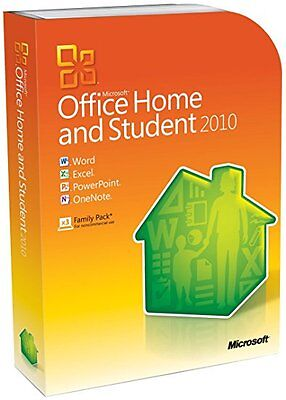 Microsoft Office Home and Student 2010 (Retail (License + Media)) (3 Computer/s)