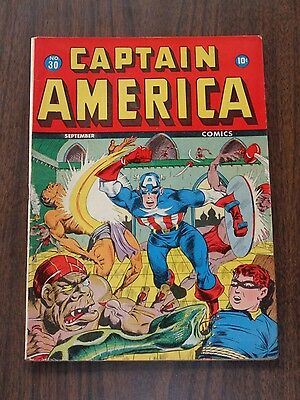 Captain America Comics #30 Vg (4.0) Marvel Comics September 1943<