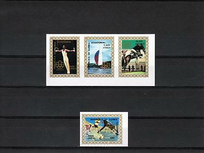 Equatorial Guinea  , Olympics 1976  -  Stamps imperforated