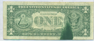 1981 Series $1 FEDERAL RESERVE NOTE NEW YORK DISTRICT LARGE INK SPILL ERROR