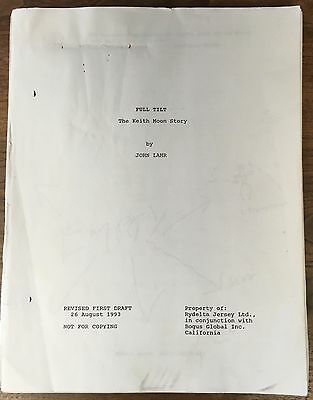 "The Who Keith Moon Movie  Script ""Full Tilt The Keith Moon Story"" by John Lahr"