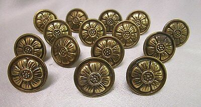 Vintage Cabinet Drawer Pull Handles Ant Brass (15 pc)