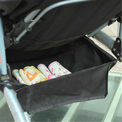 Baby Stroller Bottom Basket Bottle Drink Food Diaper Storage Bag Organizer Bags