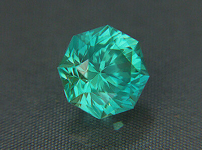 Sapphire. Lab Grown. Blue/Green.Octagonal Barion.11mm. 8.65cts. Sleeping Beauty.