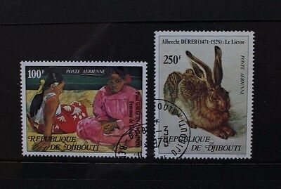 DJIBOUTI 1978 Paintings Durer Gauguin. Set of 2. Fine USED/CTO. SG739/40.