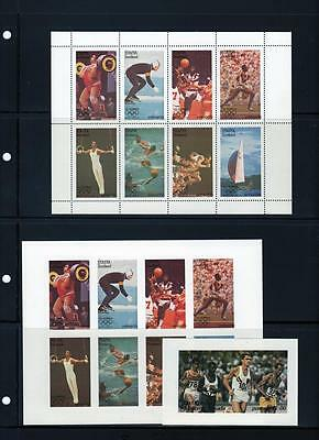 Staffa Scotland  , Olympics 1980  -  Stamps imperf + perf.